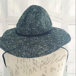 NWT Charming Charlie Boho Sun Hat Black